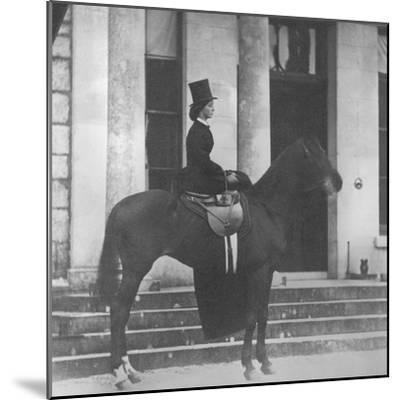 Augusta Crofton Riding Sidesaddle on Her Horse Champion, Ready for the Hunt, 1860--Mounted Photographic Print