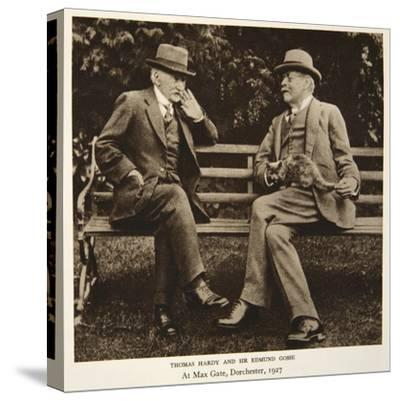 Thomas Hardy and Sir Edmund Gosse at Max Gate, Dorchester, 1927--Stretched Canvas Print