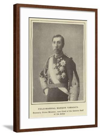 Field-Marshal Marquis Yamagata, Formerly Prime Minister, Now Chief of the General Staff of the Army--Framed Photographic Print