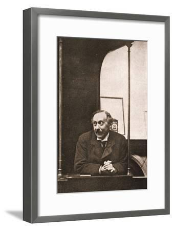 Mr Herbert Gladstone in the Witness-Box at the Trial of Emmeline Pankhurst and Others, 1908--Framed Photographic Print