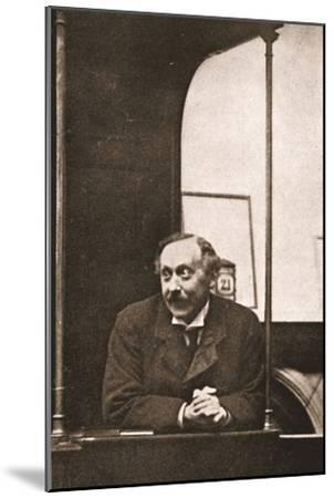 Mr Herbert Gladstone in the Witness-Box at the Trial of Emmeline Pankhurst and Others, 1908--Mounted Photographic Print