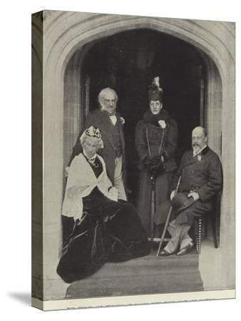 The Prince and Princess of Wales, with their Host and Hostess, at Hawarden Castle, May 1897--Stretched Canvas Print