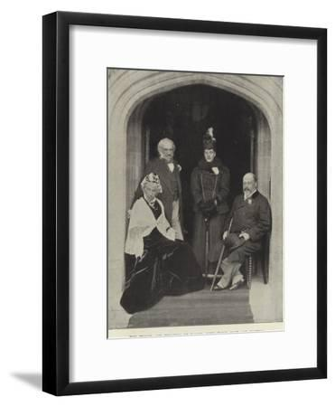 The Prince and Princess of Wales, with their Host and Hostess, at Hawarden Castle, May 1897--Framed Photographic Print