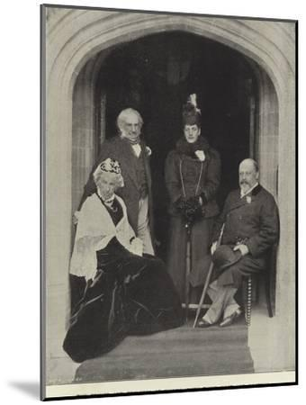 The Prince and Princess of Wales, with their Host and Hostess, at Hawarden Castle, May 1897--Mounted Photographic Print