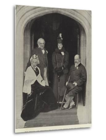 The Prince and Princess of Wales, with their Host and Hostess, at Hawarden Castle, May 1897--Metal Print