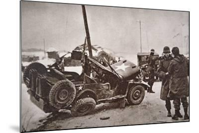 Wrecked Jeep in Which U.S. General Walker Died in a Road Collision, 23th December 1950--Mounted Photographic Print