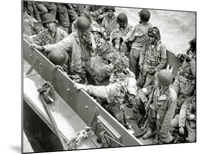 A Group of Glider Pilots Is Returning to England in a Landing Craft, Vehicle, Personnel--Mounted Photographic Print
