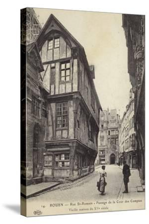 Postcard Depicting a 15th Century House on the Passage De La Cour Des Comptes--Stretched Canvas Print