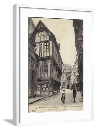 Postcard Depicting a 15th Century House on the Passage De La Cour Des Comptes--Framed Photographic Print