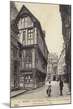 Postcard Depicting a 15th Century House on the Passage De La Cour Des Comptes--Mounted Photographic Print