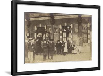 Postcard Depicting People Standing on a Platform at the Gare De Lyon-Perrache--Framed Photographic Print
