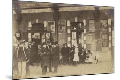 Postcard Depicting People Standing on a Platform at the Gare De Lyon-Perrache--Mounted Photographic Print