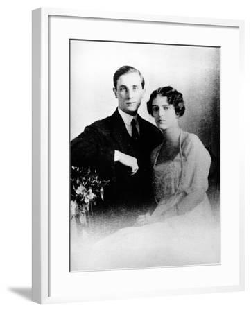 Prince Felix Yusupov and His Wife Princess Irina Alexandrovna of Russia, 1913--Framed Photographic Print