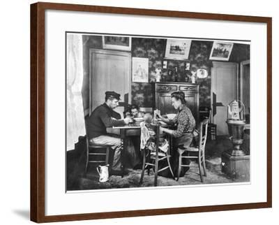 Family around a Table, from a Photo Album on Housing Development in Lens, 1906--Framed Photographic Print