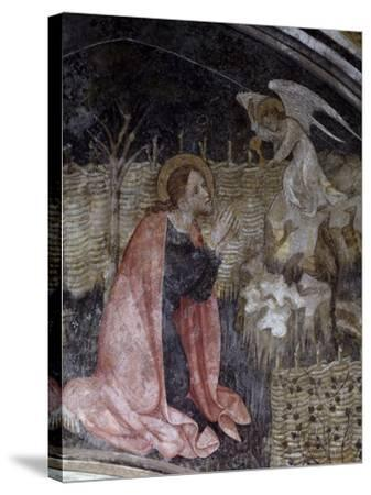 Jesus's Prayer in the Garden of Gethsemane, Detail from a Fresco by Giacomo Jaquerio--Stretched Canvas Print