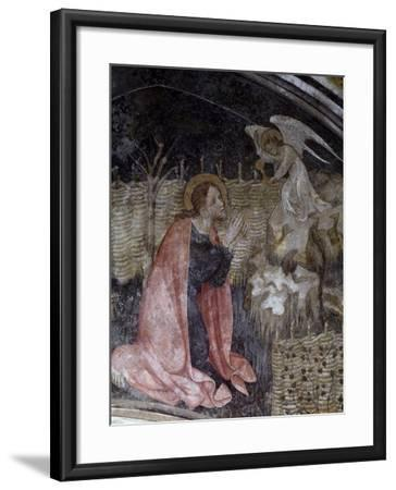 Jesus's Prayer in the Garden of Gethsemane, Detail from a Fresco by Giacomo Jaquerio--Framed Giclee Print