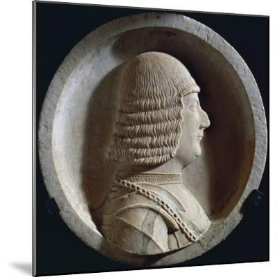 Marble Medallion with Image of Ludovico Maria Sforza, also known as Ludovico Il Moro--Mounted Giclee Print