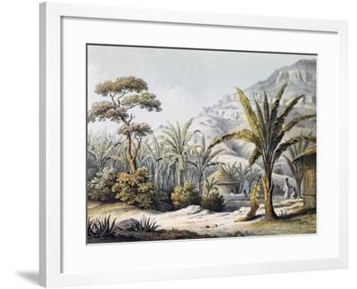 View of Huts in Enzet, Musa, Engraving from Travels of Martin Theodor Von Heuglin--Framed Giclee Print