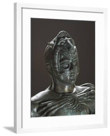 Bronze Statue of Hercules in Battle, Detail, from the Sanctuary of Villa Cassarini--Framed Giclee Print