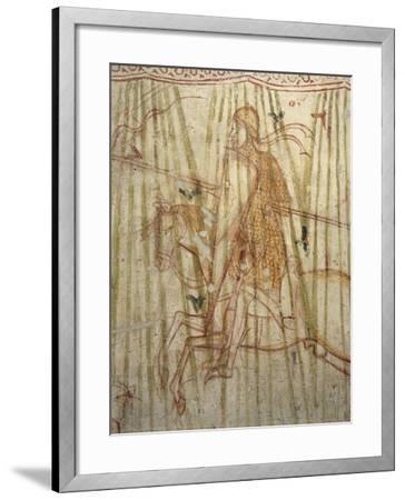 Italy, Friuli Venezia Giulia Region, Aquileia, Cathedral, Crypt, Fresco with Knight--Framed Giclee Print
