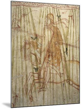 Italy, Friuli Venezia Giulia Region, Aquileia, Cathedral, Crypt, Fresco with Knight--Mounted Giclee Print