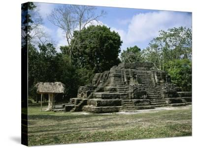 Astronomical Observatory of the Archaeological Mayan Site of Uaxactun, in Peten--Stretched Canvas Print