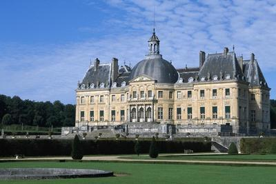 View of Chateau of Vaux-Le-Vicomte from Park, 1656-1661--Framed Giclee Print