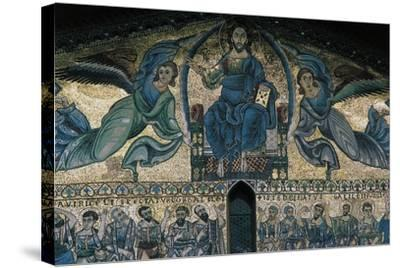 The Ascension of Christ, Mosaic on the Facade of the Basilica of St Fridianus--Stretched Canvas Print