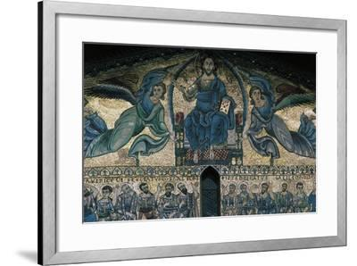 The Ascension of Christ, Mosaic on the Facade of the Basilica of St Fridianus--Framed Giclee Print