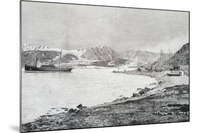 Arriving at Base on Island of Danes, Scene from Account by Salomon August Andree--Mounted Giclee Print