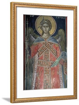 Saint, Fresco, Roussanou Monastery, also known as Agia Varvaras Roussanou Monastery--Framed Giclee Print