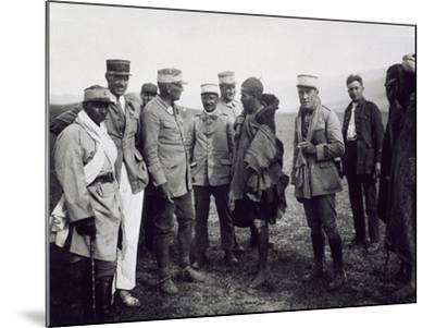 Officers Interrogating a Riff Prisoner, Follower of Abd-El-Krim, the Rif War--Mounted Giclee Print