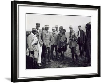 Officers Interrogating a Riff Prisoner, Follower of Abd-El-Krim, the Rif War--Framed Giclee Print