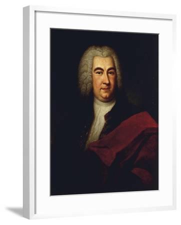 Germany, Saxony-Anhalt, Halle, Portrait of German Composer Georg Friedrich Handel--Framed Giclee Print