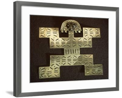 Pectoral Anthropomorphous 'Key Man' Type in Smelted Gold Shaped by Cire Perdue--Framed Giclee Print
