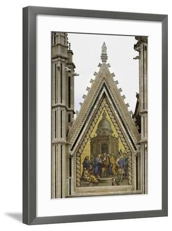 Marriage of Virgin, Decorative Mosaic from Left Cusp, Facade of Orvieto Cathedral--Framed Giclee Print