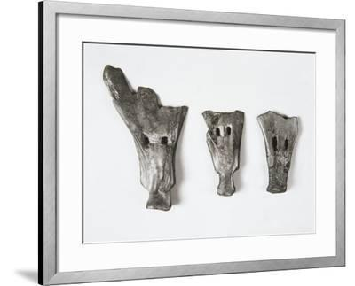 Plows and Tools Made of Bone in the Form of Small Shovel, China, Hemudu Culture--Framed Giclee Print