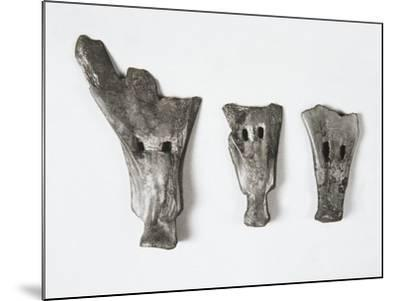 Plows and Tools Made of Bone in the Form of Small Shovel, China, Hemudu Culture--Mounted Giclee Print