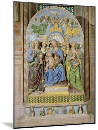Madonna and Child Enthroned, the Medici Chapel Altarpiece by Andrea Della Robbia--Mounted Giclee Print