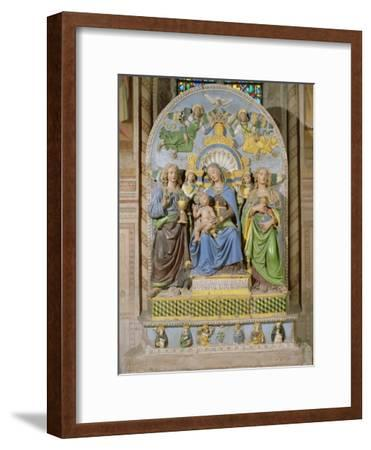 Madonna and Child Enthroned, the Medici Chapel Altarpiece by Andrea Della Robbia--Framed Giclee Print