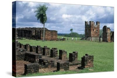 Ruins of Jesuit Missions of Most Holy Trinity of Parana and Jesus of Tavarangue--Stretched Canvas Print