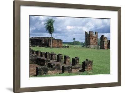 Ruins of Jesuit Missions of Most Holy Trinity of Parana and Jesus of Tavarangue--Framed Giclee Print