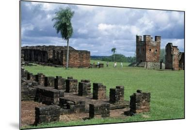 Ruins of Jesuit Missions of Most Holy Trinity of Parana and Jesus of Tavarangue--Mounted Giclee Print