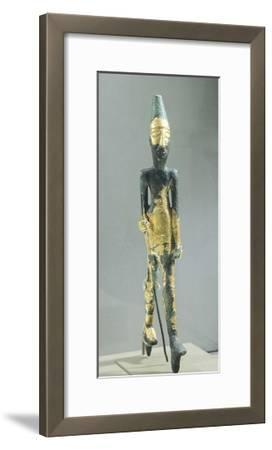 Bronze Statuette Representing Walking Male Figure, from Temple of the Obelisks, Byblos--Framed Giclee Print