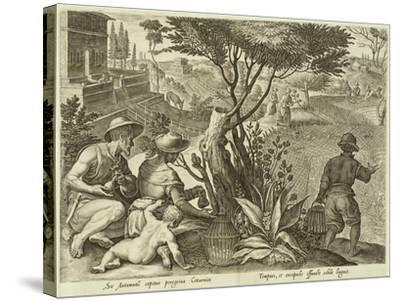 Plate from the Series Venationes Ferarum, Avium, Piscium, Fiandre--Stretched Canvas Print