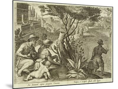 Plate from the Series Venationes Ferarum, Avium, Piscium, Fiandre--Mounted Giclee Print