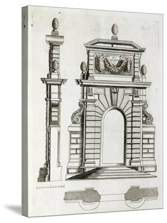 Study for Doorway in Villa Farnese in Caprarola, Near Viterbo--Stretched Canvas Print