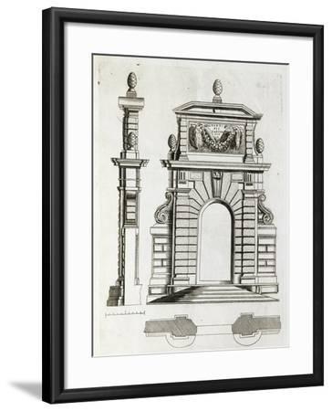 Study for Doorway in Villa Farnese in Caprarola, Near Viterbo--Framed Giclee Print