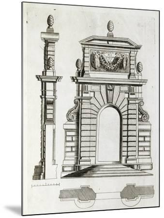 Study for Doorway in Villa Farnese in Caprarola, Near Viterbo--Mounted Giclee Print