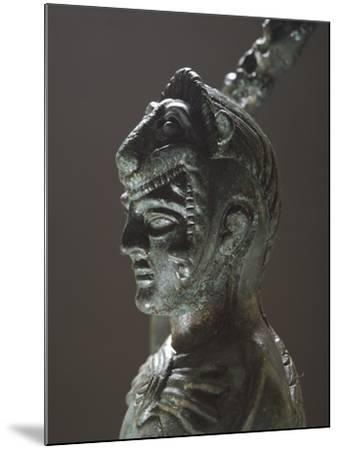 Bronze Depicting Hercules in Battle, Detail of the Head, from the Sanctuary of Villa Cassarini--Mounted Giclee Print